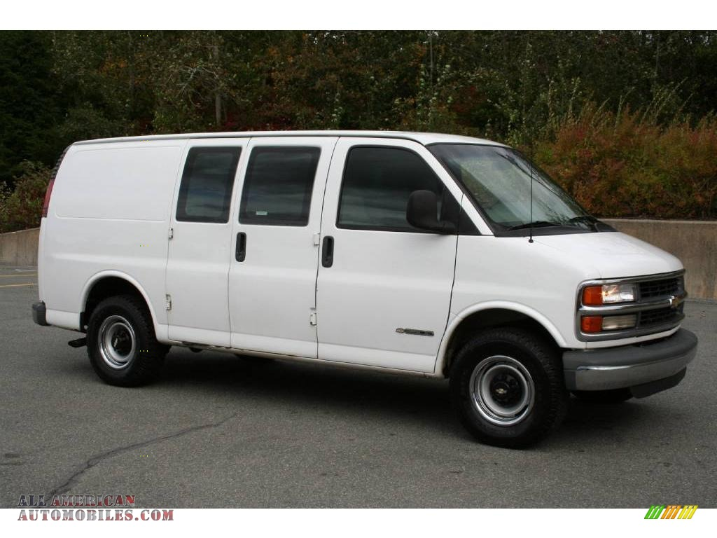 2001 Chevrolet Express 3500 Commercial Van in White photo ...