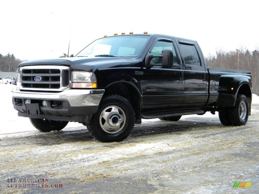 2002 ford f350 super duty lariat crew cab 4x4 dually in black photo 24 d15378 all american. Black Bedroom Furniture Sets. Home Design Ideas
