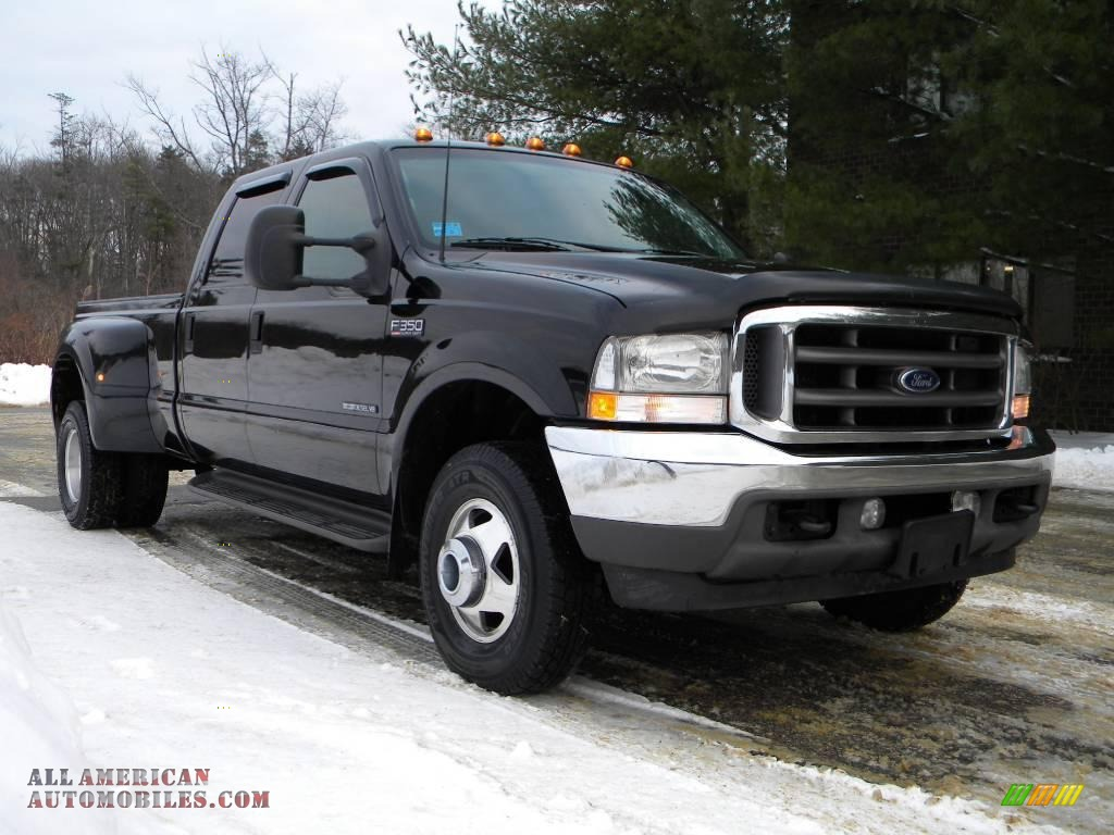 2002 Ford F350 Super Duty Lariat Crew Cab 4x4 Dually in Black photo #10 - D15378   All American ...