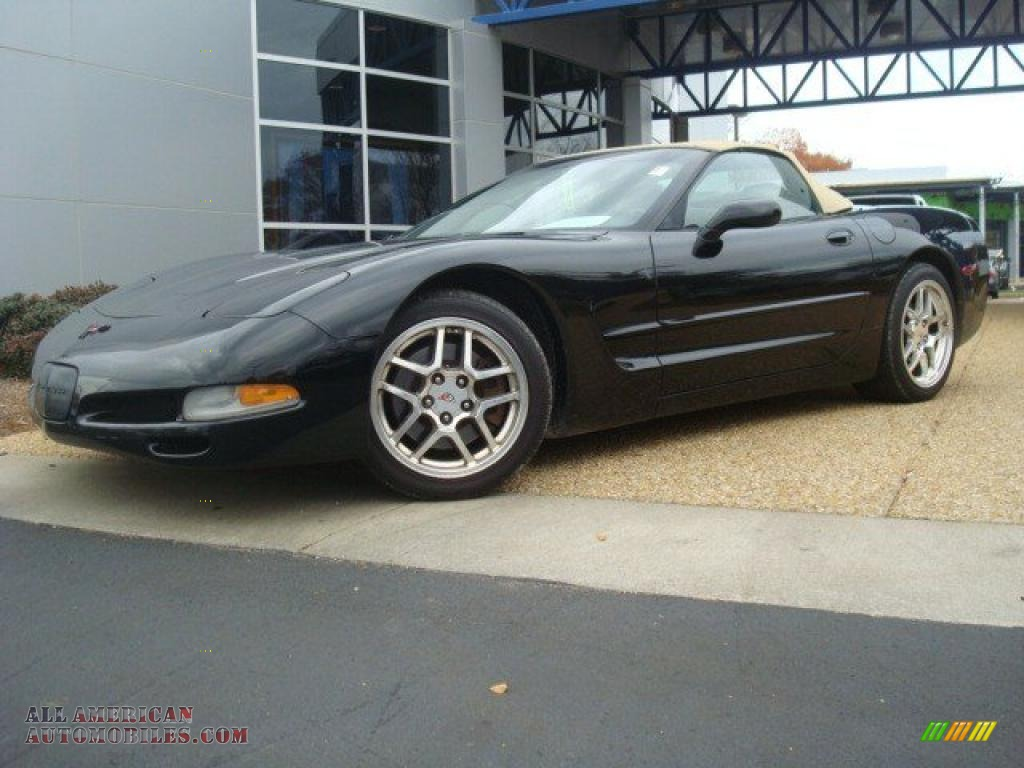 1999 chevrolet corvette convertible in black photo 3 Tysinger motor company