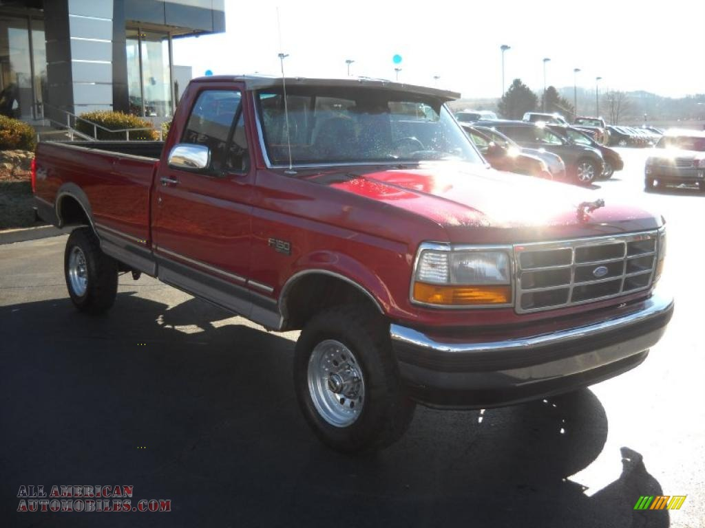 1995 ford f150 xlt regular cab 4x4 in electric currant red pearl photo 3 b94835 all. Black Bedroom Furniture Sets. Home Design Ideas