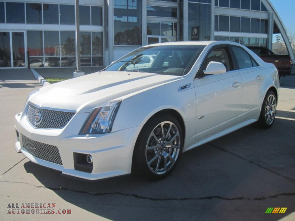 2010 cadillac cts v sedan in white diamond tricoat 112409 all american automobiles buy. Black Bedroom Furniture Sets. Home Design Ideas