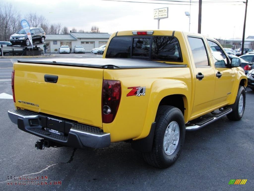 2005 chevrolet colorado z71 crew cab 4x4 in yellow photo 6 280595 all american automobiles. Black Bedroom Furniture Sets. Home Design Ideas
