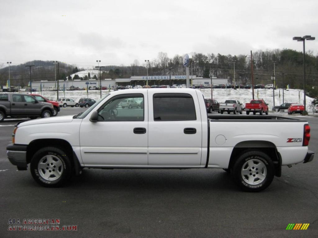 2005 chevrolet silverado 1500 z71 crew cab 4x4 in summit white 110478 all american. Black Bedroom Furniture Sets. Home Design Ideas