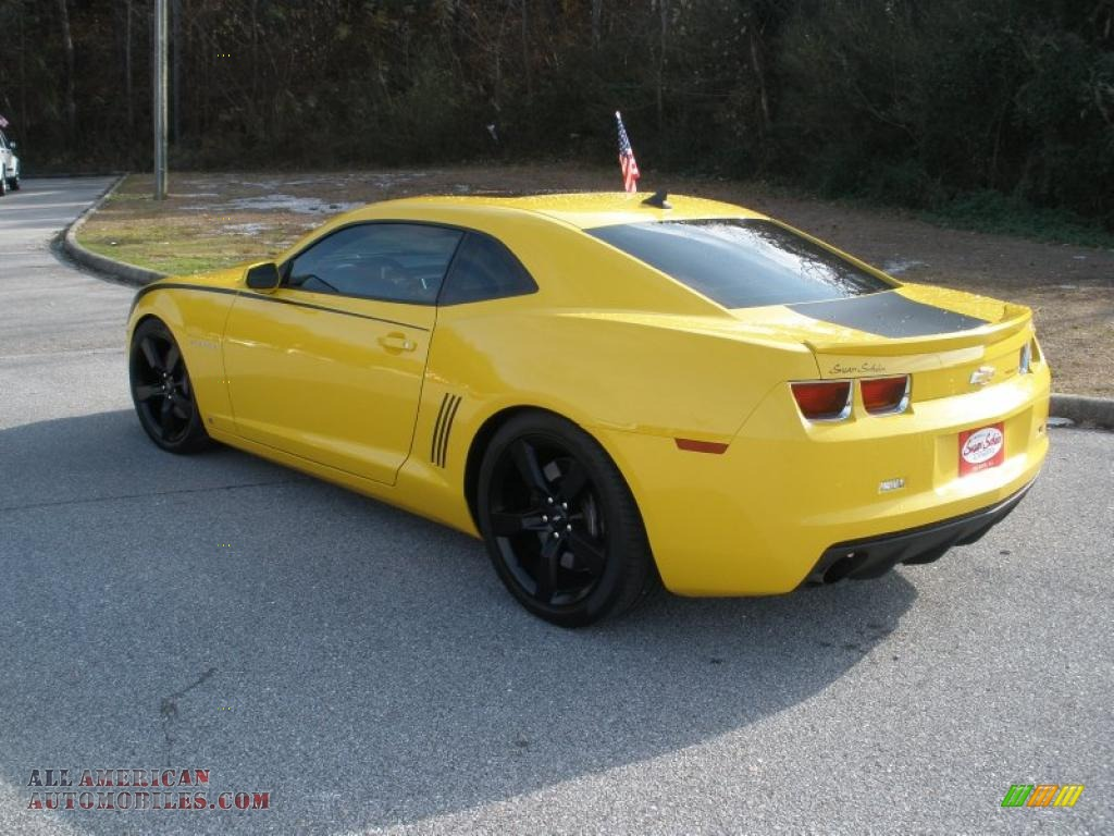 2010 chevrolet camaro ss rs coupe in rally yellow photo 3 116182 all american automobiles. Black Bedroom Furniture Sets. Home Design Ideas