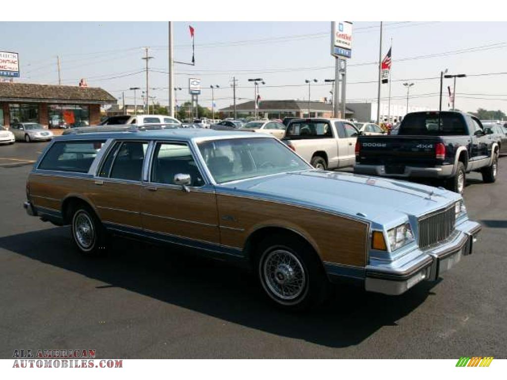 1988 Buick Electra Estate Wagon in Light Sapphire Blue Metallic ...