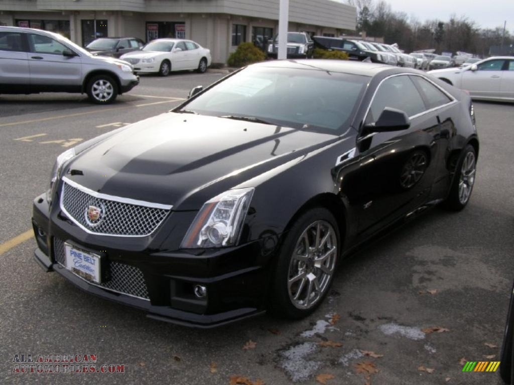 2011 cadillac cts v coupe in black raven 122841 all american automobiles buy american. Black Bedroom Furniture Sets. Home Design Ideas