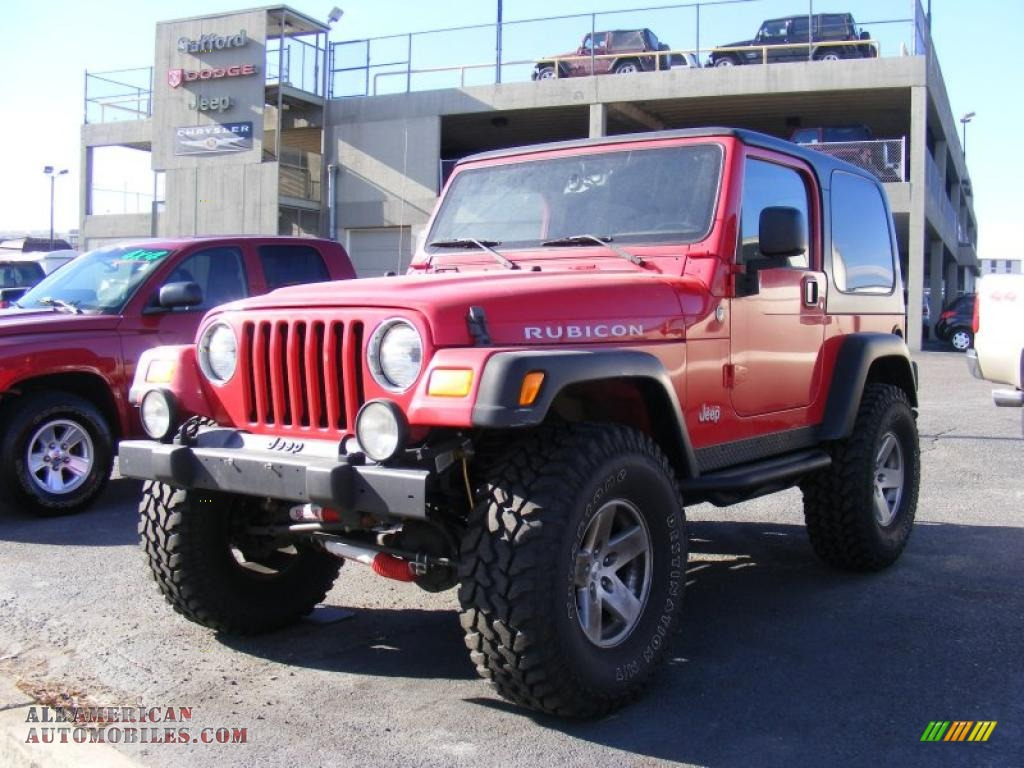 2006 Jeep Wrangler Rubicon 4x4 in Flame Red - 752601 | All ...