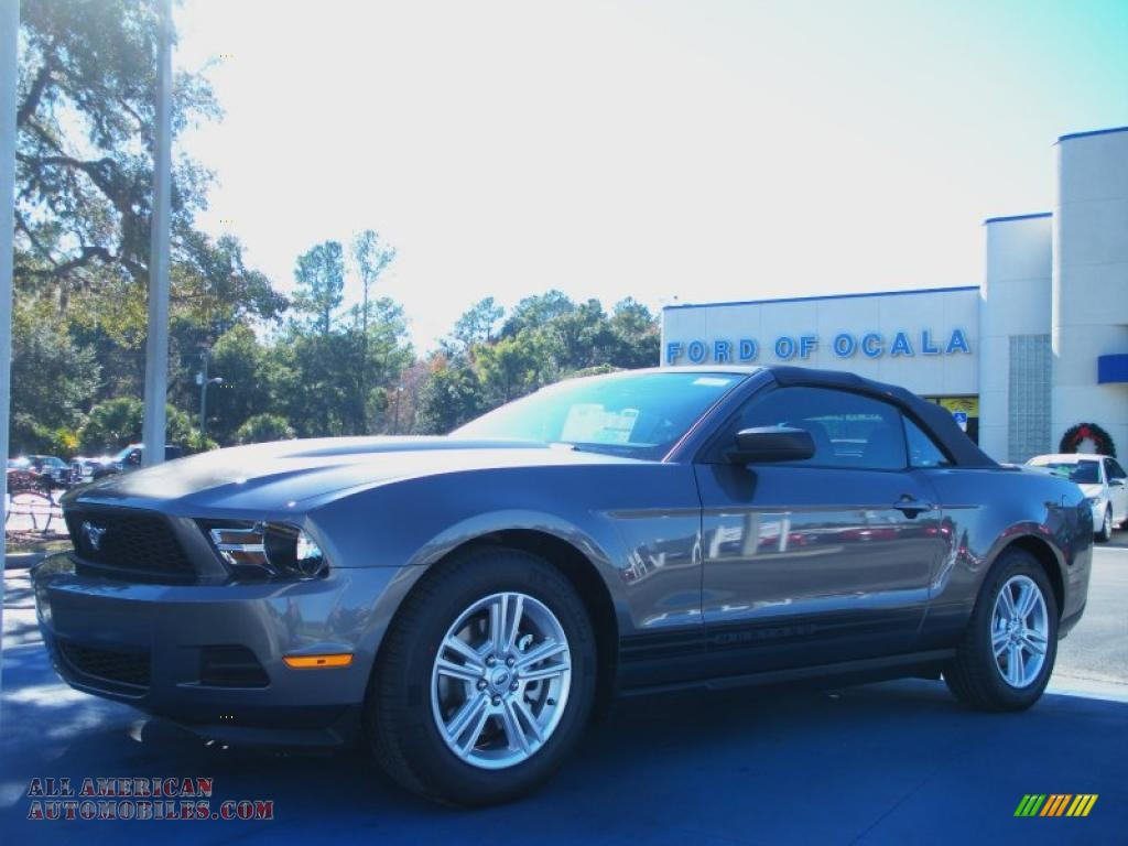 2011 ford mustang v6 convertible in sterling gray metallic 164548 all american automobiles. Black Bedroom Furniture Sets. Home Design Ideas