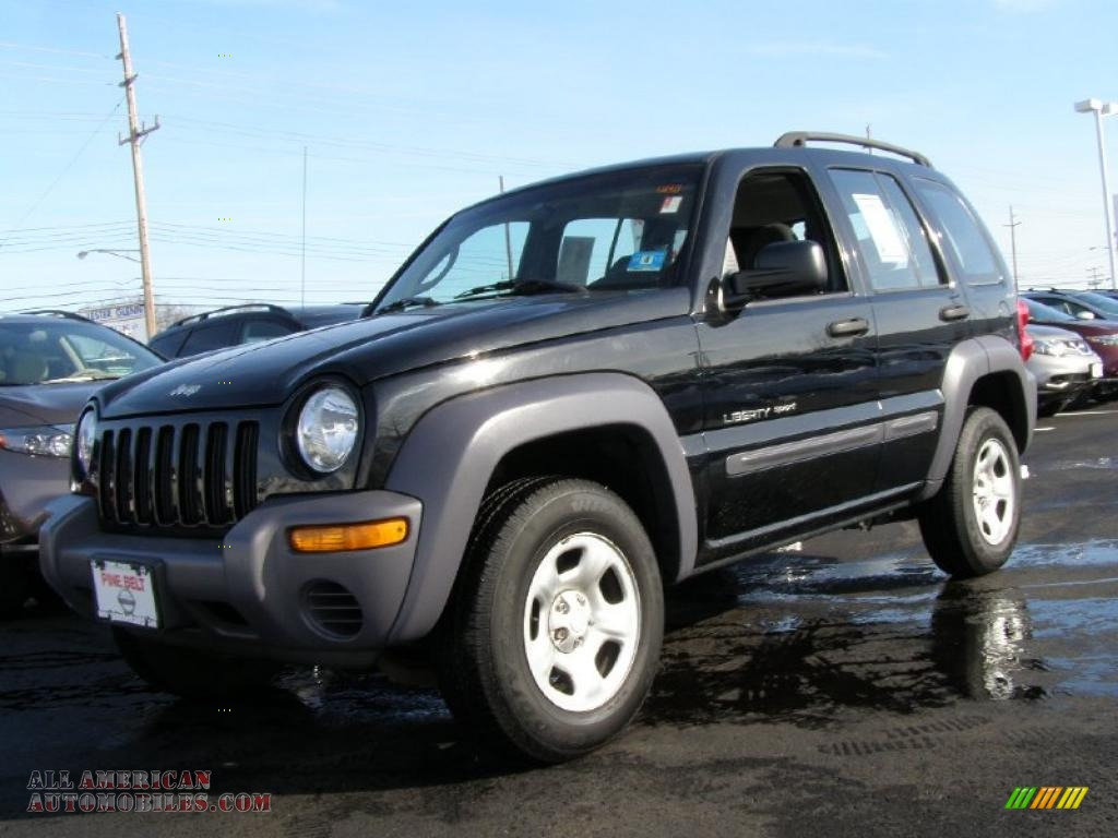 2002 jeep liberty sport 4x4 in black 103653 all. Black Bedroom Furniture Sets. Home Design Ideas
