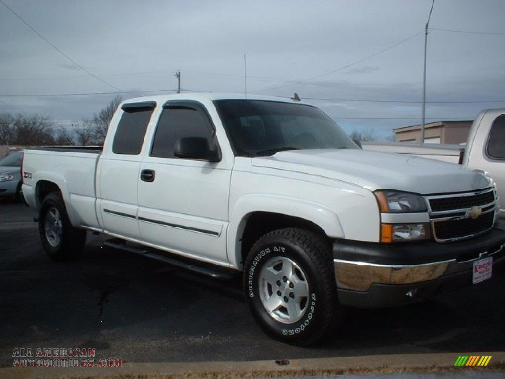 2006 chevrolet silverado 1500 z71 extended cab 4x4 in summit white photo 3 219817 all. Black Bedroom Furniture Sets. Home Design Ideas