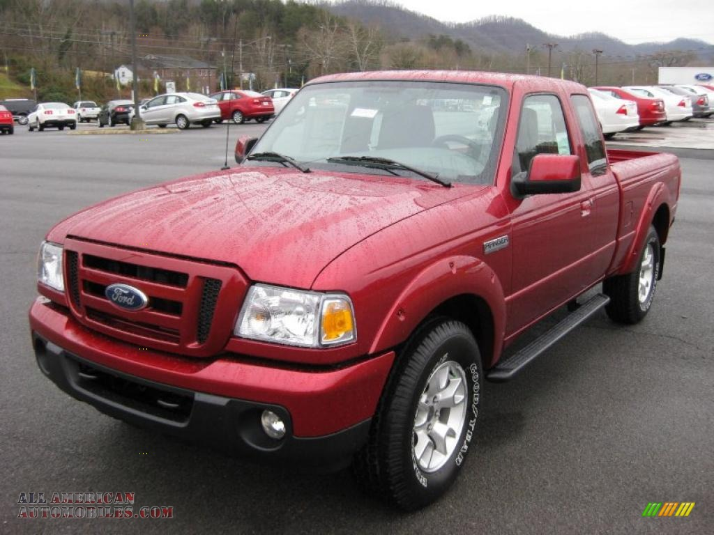 2011 ford ranger sport supercab 4x4 in redfire metallic photo 2 a24486 all american. Black Bedroom Furniture Sets. Home Design Ideas