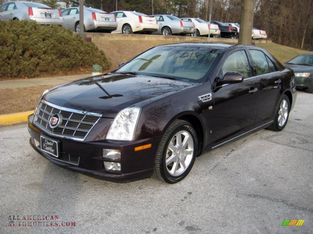 2008 Cadillac Sts V6 In Black Cherry Photo 8 115732