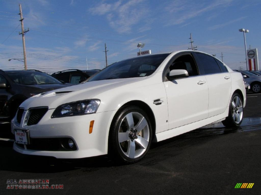 2009 Pontiac G8 Gt In White Hot 210348 All American Automobiles Buy American Cars For Sale In America