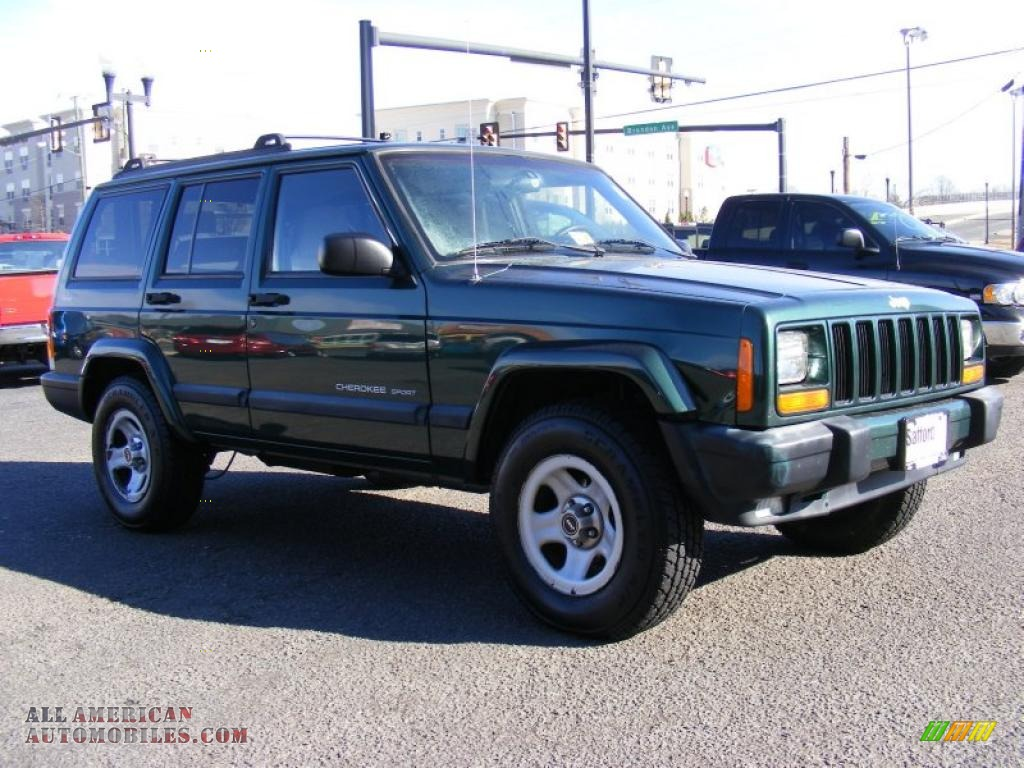1999 jeep cherokee sport 4x4 in forest green pearl photo 3 652417 all american automobiles. Black Bedroom Furniture Sets. Home Design Ideas