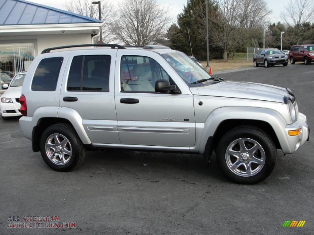 2003 Liberty Limited 4x4   Bright Silver Metallic / Light Taupe/Dark Slate  Gray Photo