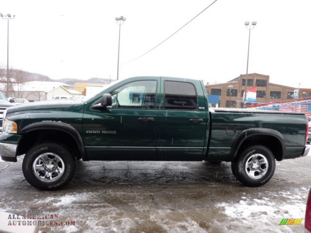 2002 dodge ram 1500 slt quad cab 4x4 in forest green pearlcoat photo 6 118111 all american. Black Bedroom Furniture Sets. Home Design Ideas