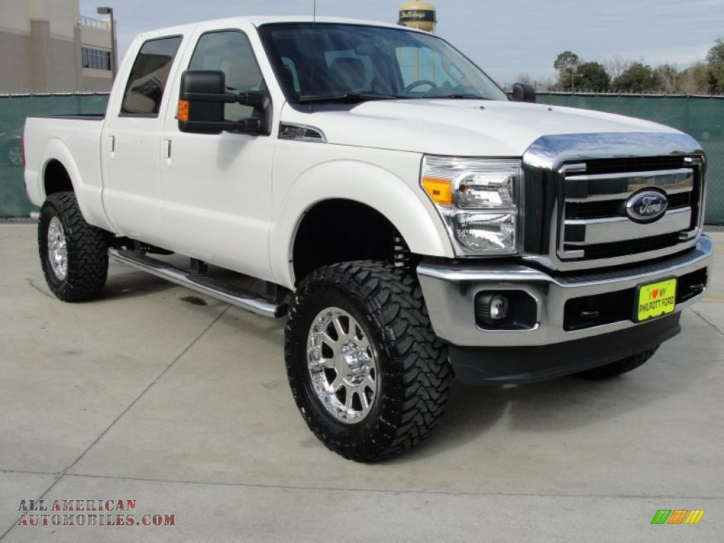 2011 ford f250 super duty lariat crew cab 4x4 in white platinum metallic tri coat a62241 all. Black Bedroom Furniture Sets. Home Design Ideas