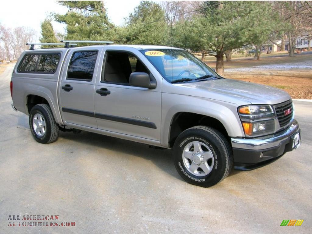 2005 gmc canyon sle crew cab 4x4 in silver birch metallic photo 2 177223 all american. Black Bedroom Furniture Sets. Home Design Ideas
