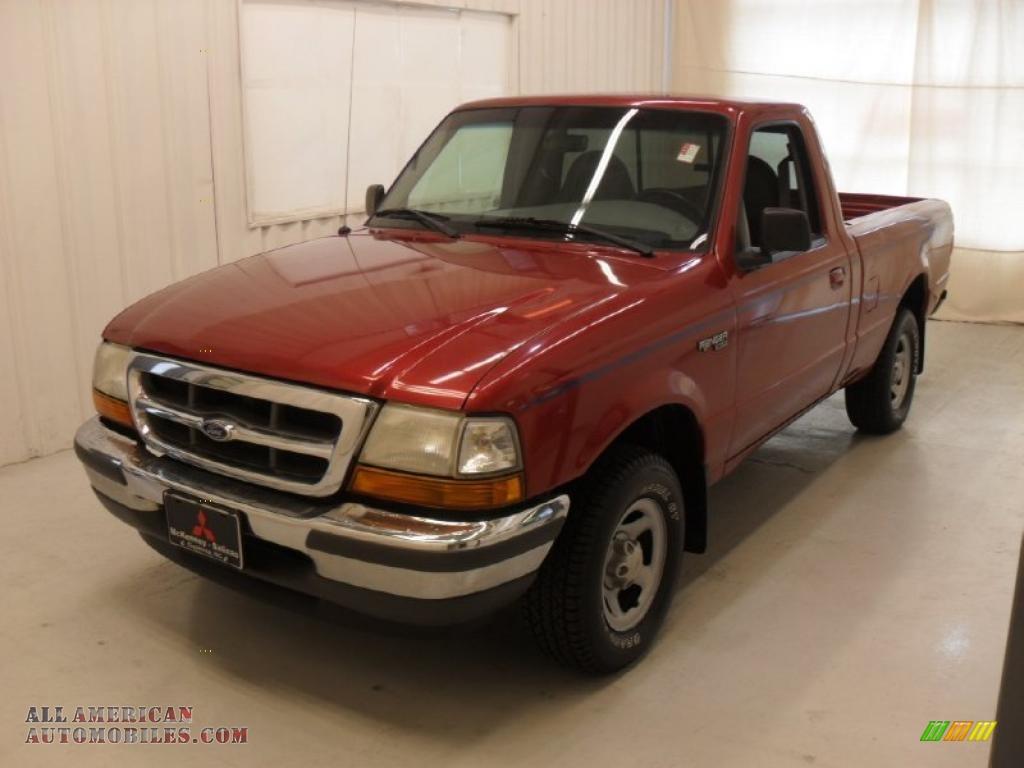 1998 ford ranger xlt regular cab in toreador red metallic c33687 all american automobiles. Black Bedroom Furniture Sets. Home Design Ideas