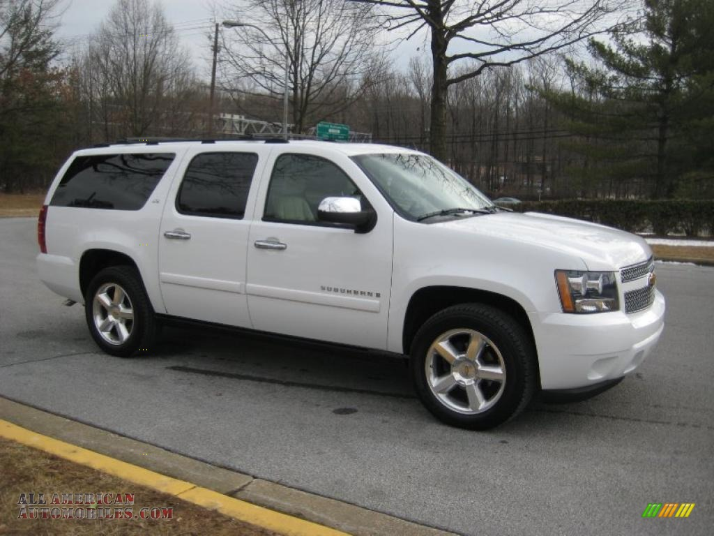 2007 chevrolet suburban 1500 ltz 4x4 in summit white photo. Black Bedroom Furniture Sets. Home Design Ideas