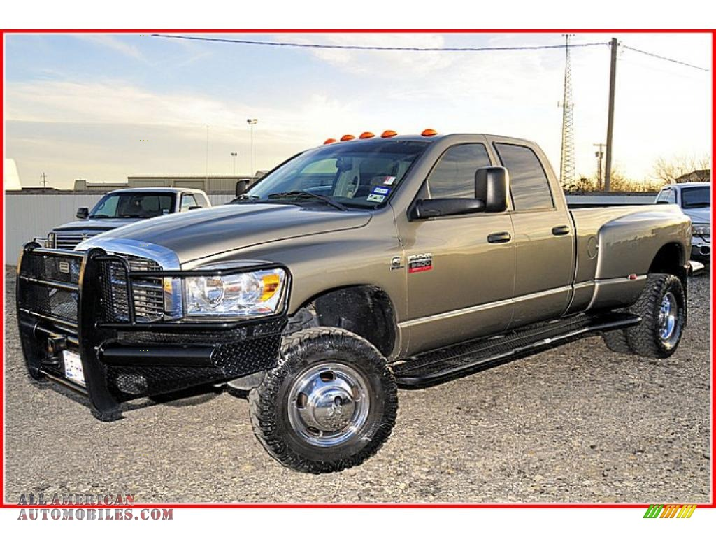 2008 dodge ram 3500 laramie quad cab 4x4 dually in light khaki metallic 109828 all american. Black Bedroom Furniture Sets. Home Design Ideas