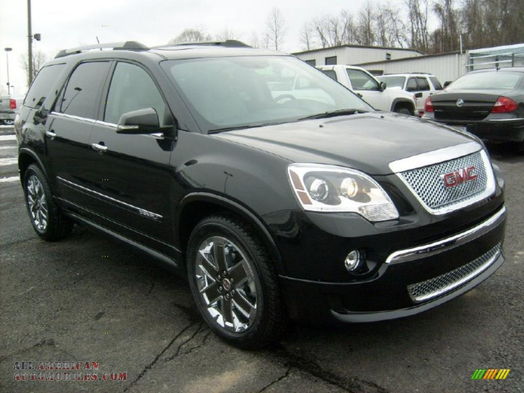 2011 gmc acadia denali awd in carbon black metallic 283245 all american automobiles buy. Black Bedroom Furniture Sets. Home Design Ideas