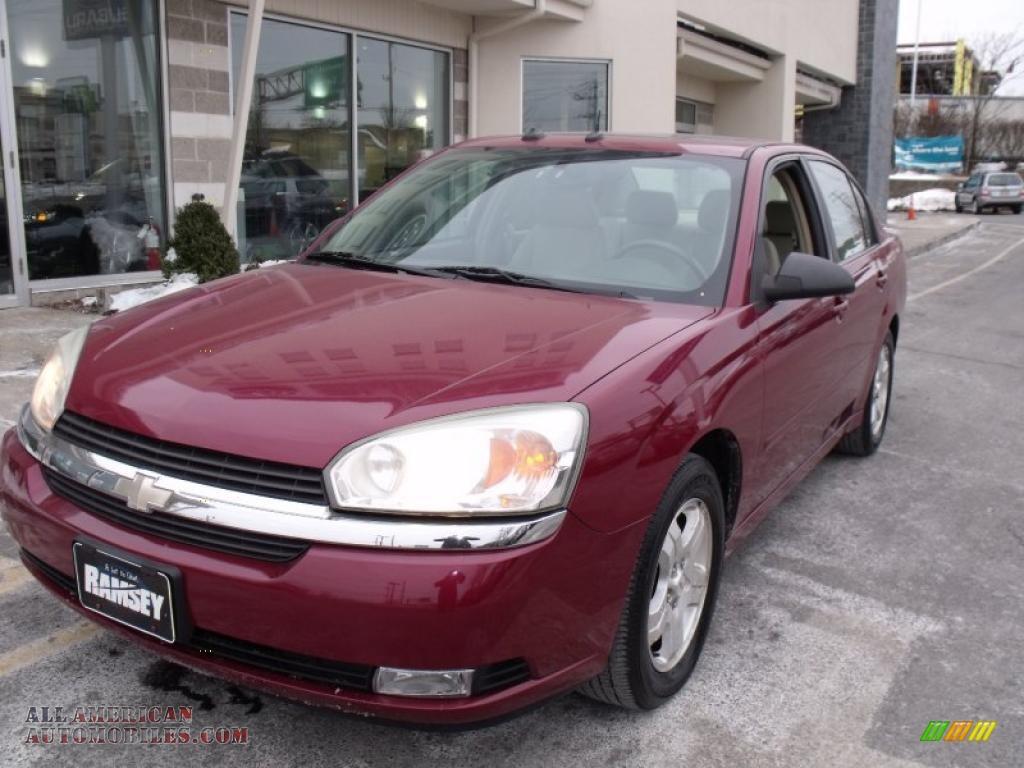A Crivelli Subaru >> 2004 Chevrolet Malibu LT V6 Sedan in Sport Red Metallic - 120895 | All American Automobiles ...