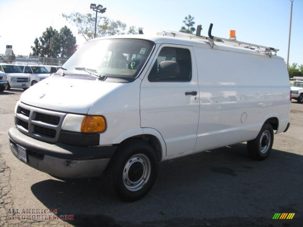 2001 dodge ram van 2500 commercial in bright white 541214 all american automobiles buy. Black Bedroom Furniture Sets. Home Design Ideas