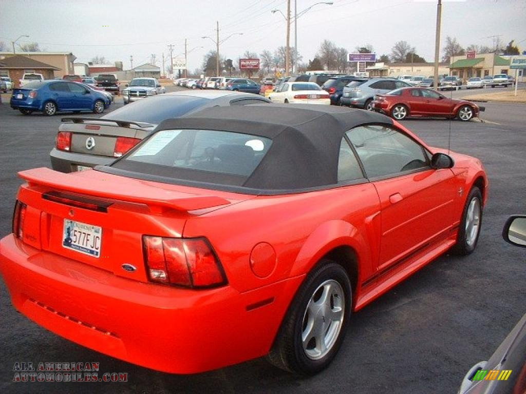 2001 ford mustang v6 convertible in performance red photo. Black Bedroom Furniture Sets. Home Design Ideas