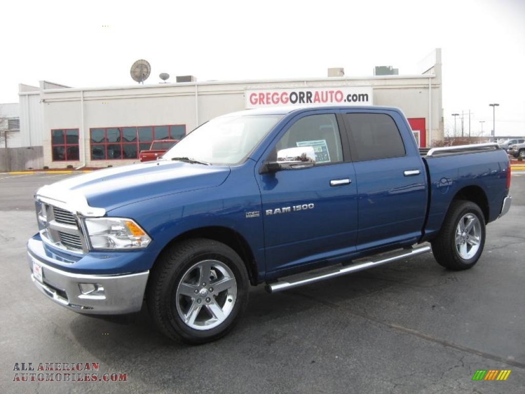 2011 dodge ram 1500 big horn crew cab 4x4 in deep water blue pearl 598105 all american. Black Bedroom Furniture Sets. Home Design Ideas