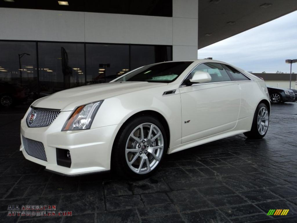 2011 cadillac cts v coupe in white diamond tricoat 138495 all american automobiles buy. Black Bedroom Furniture Sets. Home Design Ideas