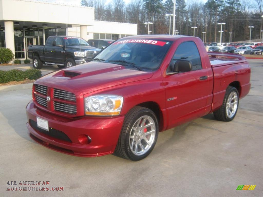 2006 ram 1500 srt 10 regular cab inferno red crystal pearl medium. Cars Review. Best American Auto & Cars Review