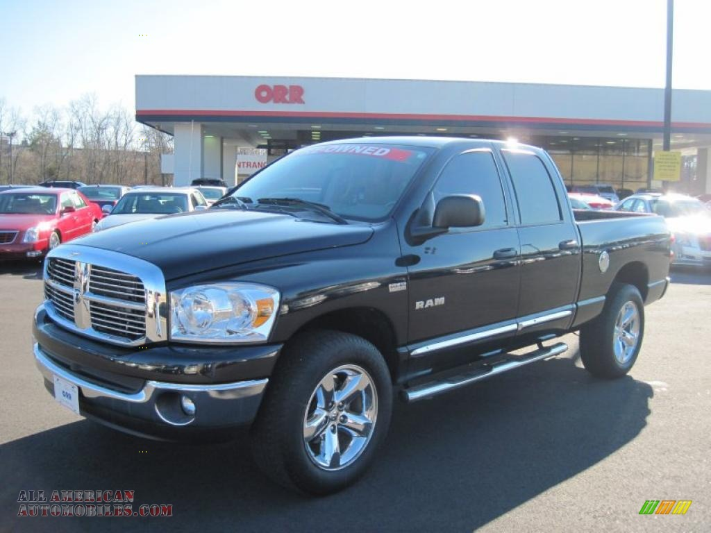 2008 dodge ram 1500 big horn edition quad cab 4x4 in brilliant black crystal pearl 506949. Black Bedroom Furniture Sets. Home Design Ideas