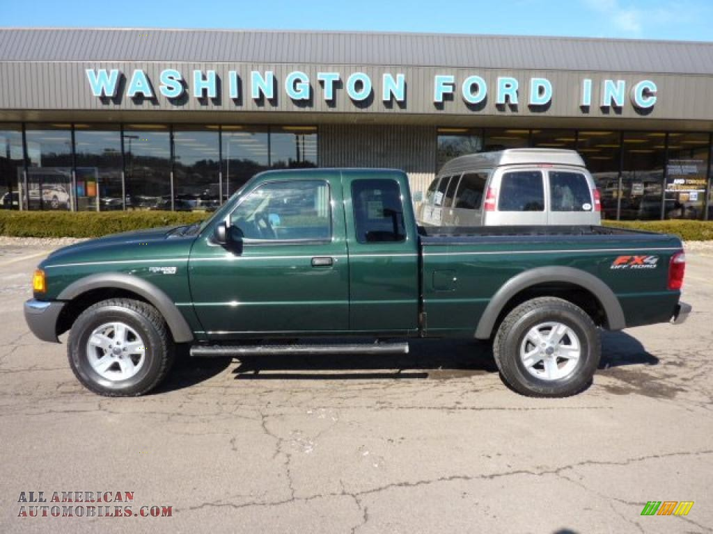 2003 Ford Ranger FX4 SuperCab 4x4 in Dark Highland Green Metallic - A36334   All American ...