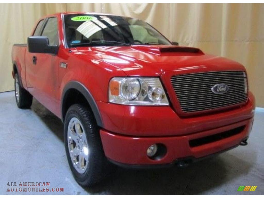 2006 ford f150 roush sport supercab 4x4 in bright red photo 6 a55959 all american. Black Bedroom Furniture Sets. Home Design Ideas