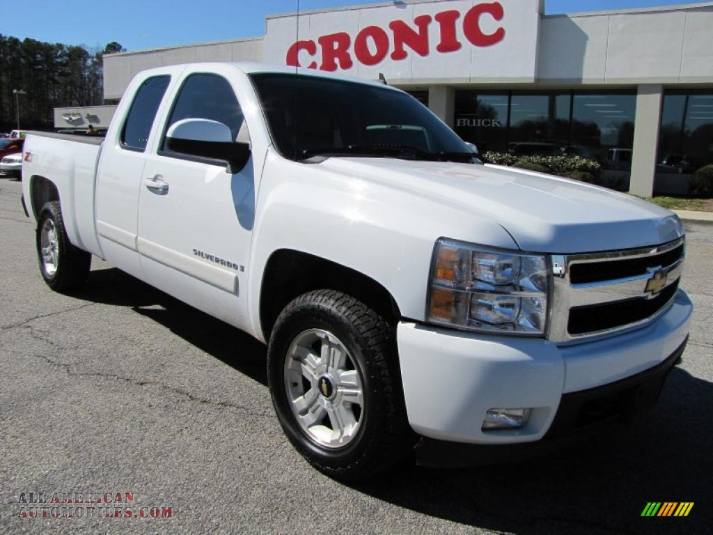 2007 chevrolet silverado 1500 ltz extended cab 4x4 in summit white 722956 all american. Black Bedroom Furniture Sets. Home Design Ideas