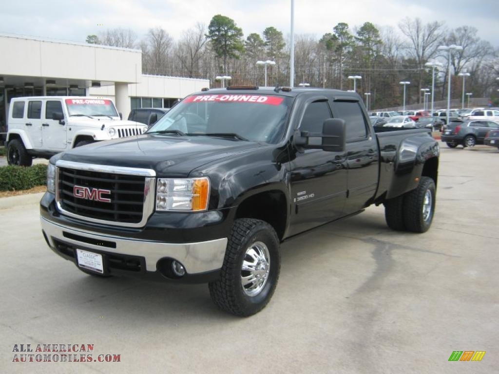 2008 Sierra 3500HD SLT Crew Cab 4x4 Dually - Carbon Black Metallic