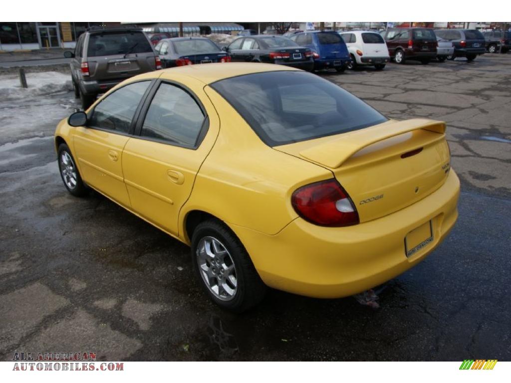 dodge neon sxt  solar yellow photo    american automobiles buy american
