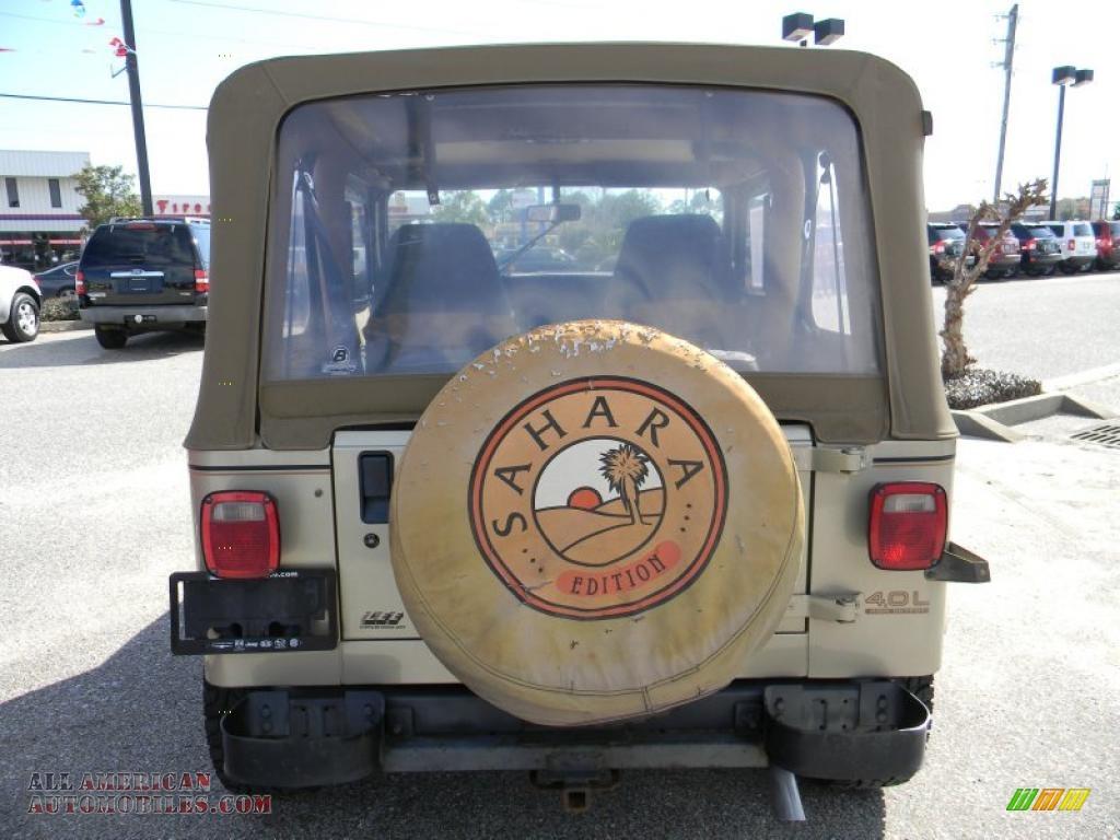 1992 jeep wrangler sahara 4x4 in light champagne metallic photo 4 524668 all american. Black Bedroom Furniture Sets. Home Design Ideas