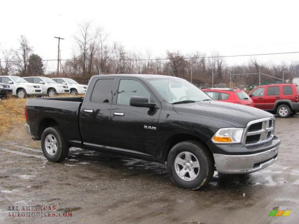 2010 dodge ram 1500 slt quad cab 4x4 in brilliant black crystal pearl 102253 all american. Black Bedroom Furniture Sets. Home Design Ideas