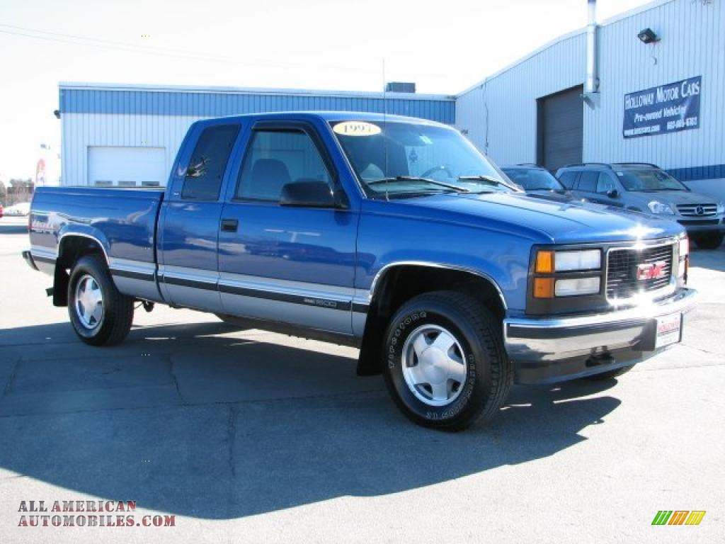 1997 Gmc Sierra 1500 Sle Extended Cab 4x4 In Bright Blue Metallic Photo 3 561128 All American Automobiles Buy American Cars For Sale In America