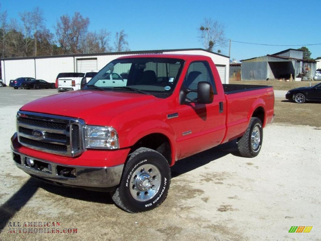 2006 ford f250 super duty fx4 regular cab 4x4 in red. Black Bedroom Furniture Sets. Home Design Ideas