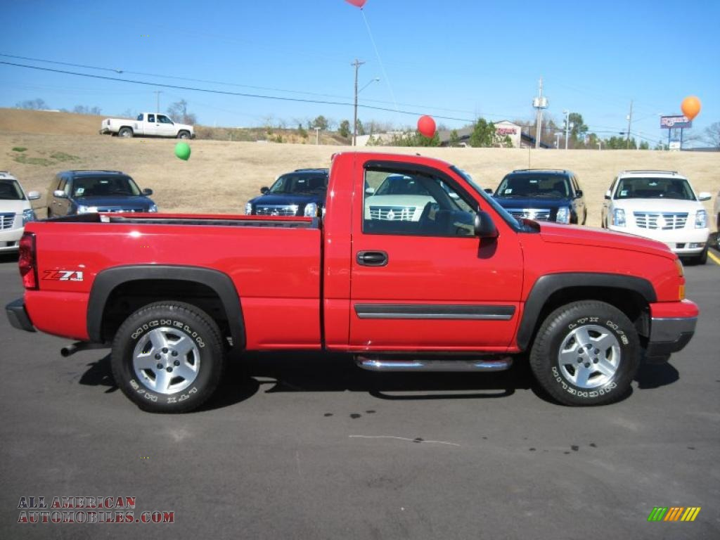 Colorado Springs Toyota >> 2006 Chevrolet Silverado 1500 Z71 Regular Cab 4x4 in Victory Red photo #6 - 103127 | All ...