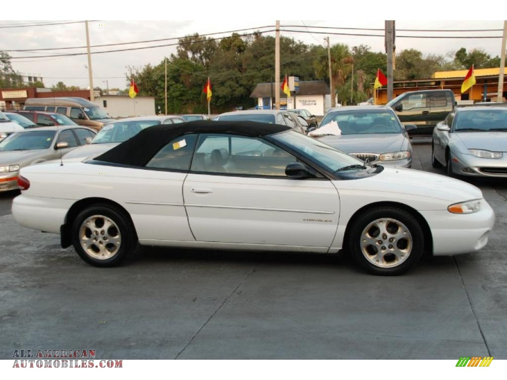 1997 chrysler sebring jxi convertible in bright white. Cars Review. Best American Auto & Cars Review
