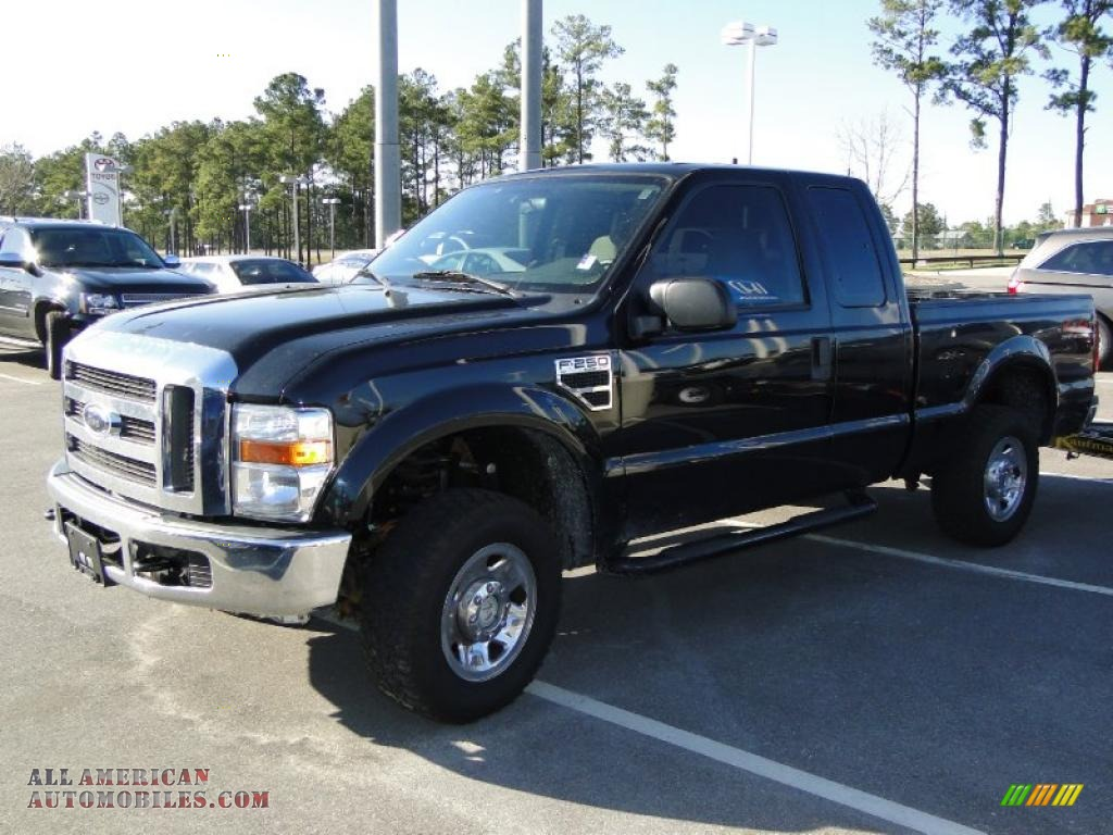 2008 ford f250 super duty xlt supercab 4x4 in black e05462 all american automobiles buy. Black Bedroom Furniture Sets. Home Design Ideas