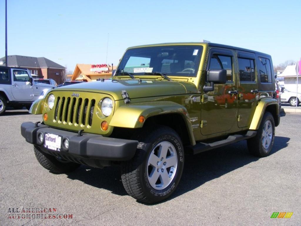 2007 Jeep Wrangler Unlimited Sahara 4x4 In Rescue Green Metallic