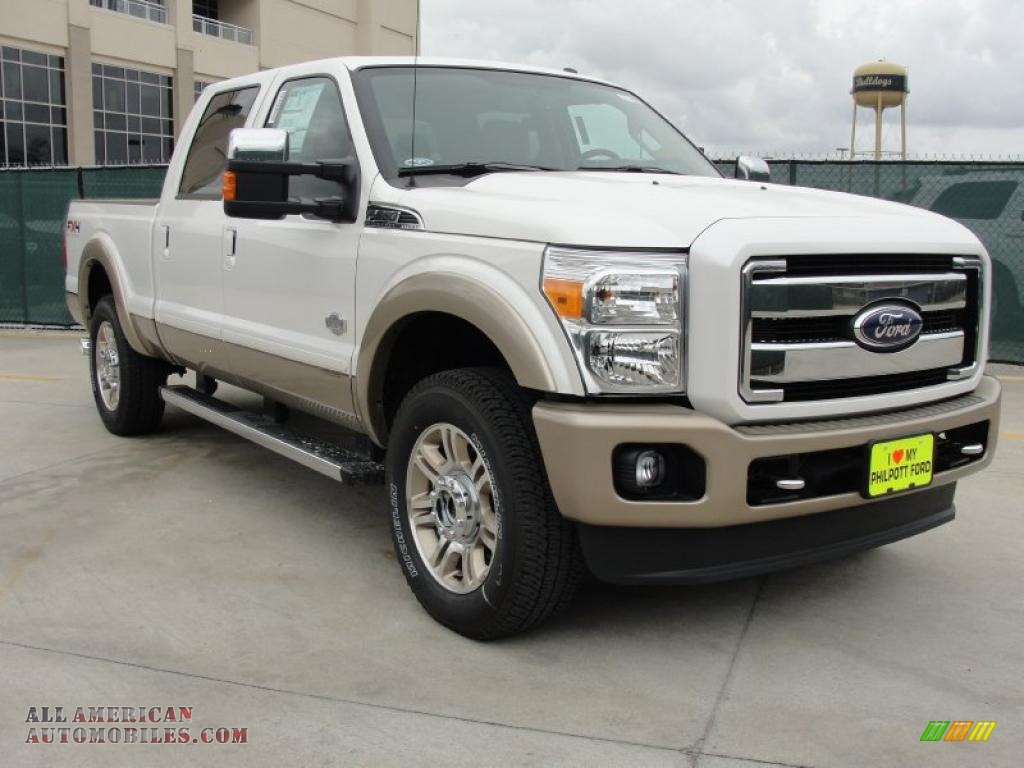 2011 ford f250 super duty king ranch crew cab 4x4 in white. Black Bedroom Furniture Sets. Home Design Ideas