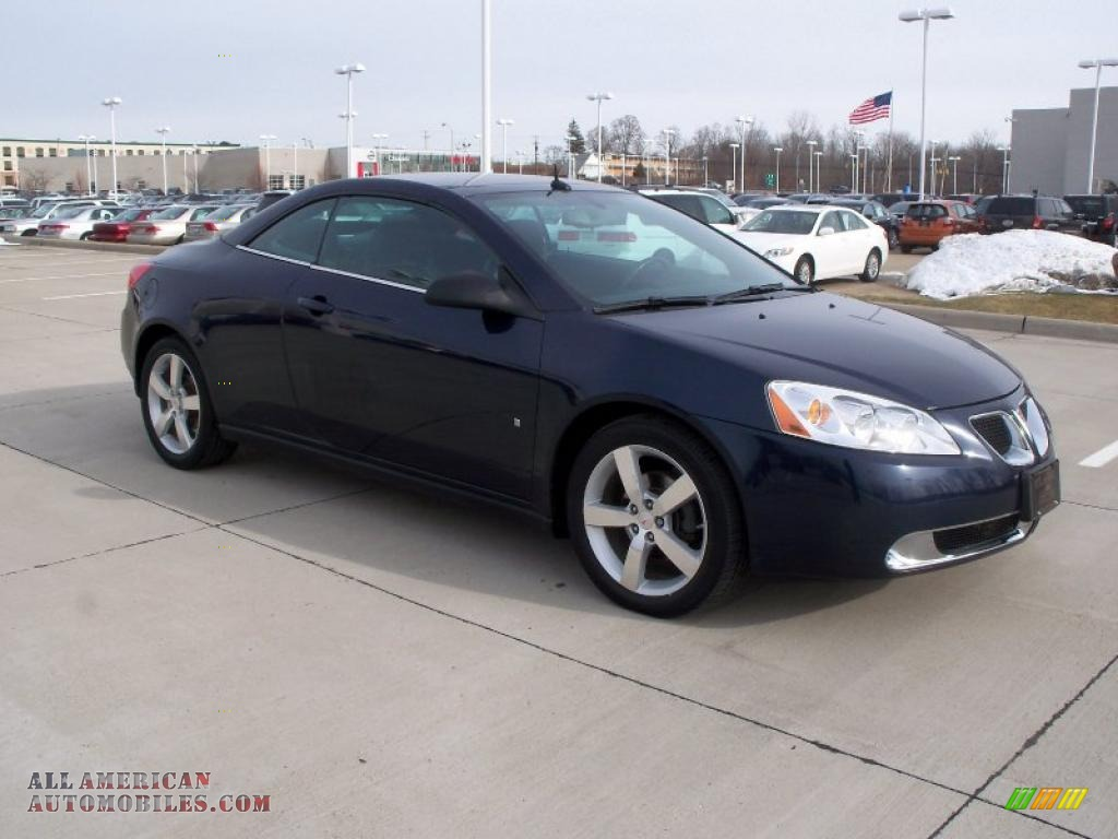 2008 Pontiac G6 Gt Convertible In Midnight Blue Metallic