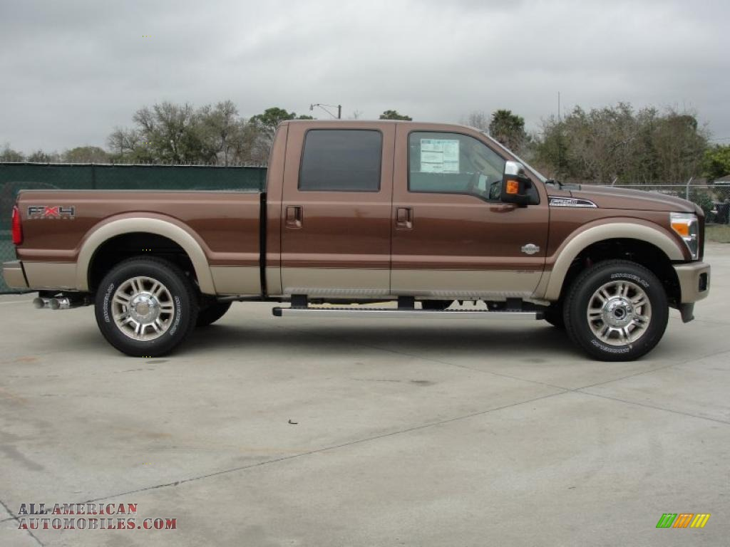 2011 ford f250 super duty king ranch crew cab 4x4 in golden bronze metallic photo 2 c20064